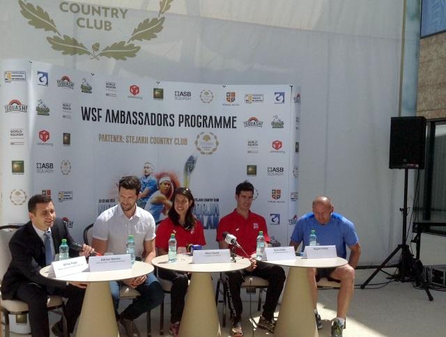 WSF Ambassador Programme Romania - Borja Golan - Nicol David