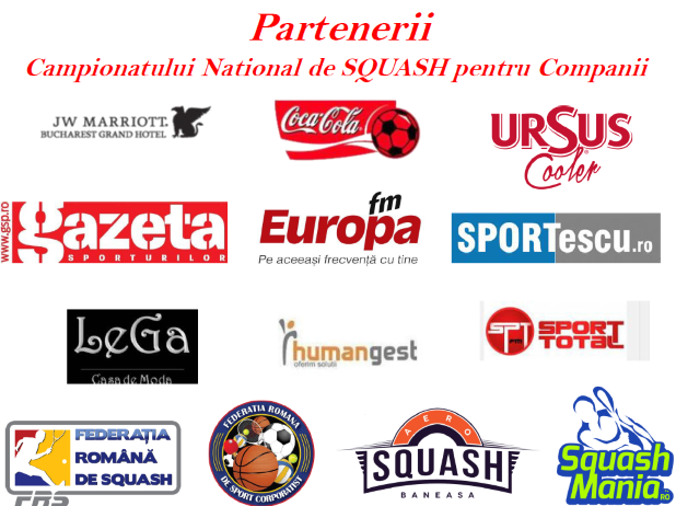 parteneri campionatul national de squash al companiilor editia I-a