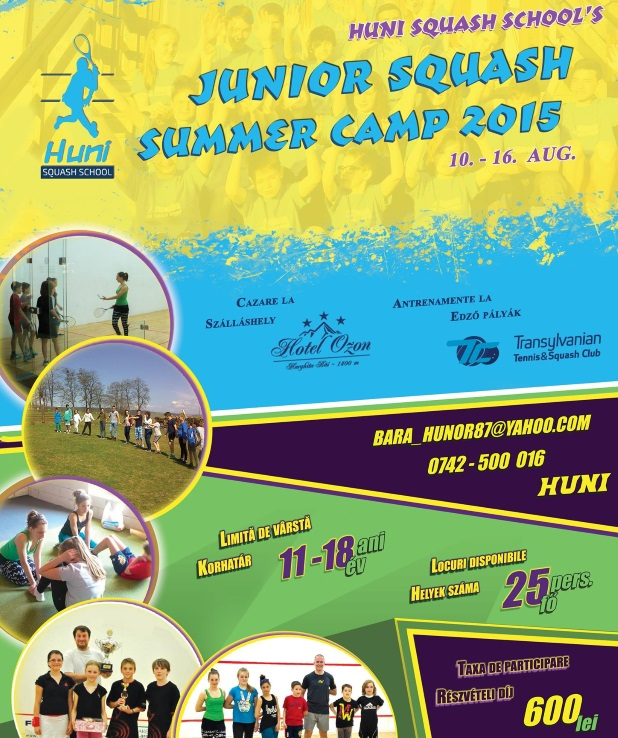 junior squash summer camp 2015 by hunny squash school
