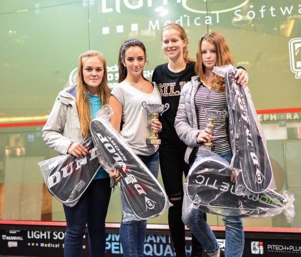 Campionii romanian open squash 2015 - junioare