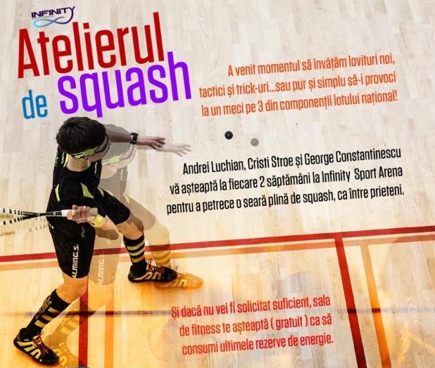atelierul de squash la infinity sport arena bucuresti