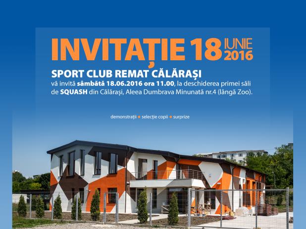 Calarasi - primul club de squash din zona